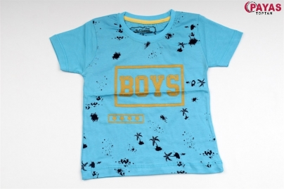 8/12 Y BOYS PALMIYE BASKILI T-SHIRT